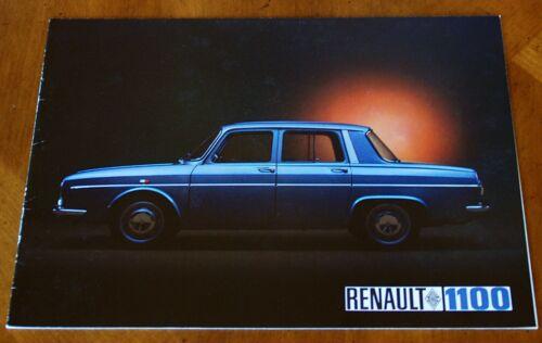 Renault R10 1100 brochure Prospekt, 1968