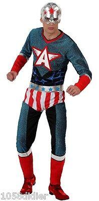 Déguisement Super Héro Homme CAPTAIN America M/L Comics - Captain America Film Kostüm