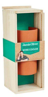 Wein-kühler Aus Holz (Jamie Oliver Weinkühler aus Terrakotta Natur lasiert in schicker Holzbox M55736)
