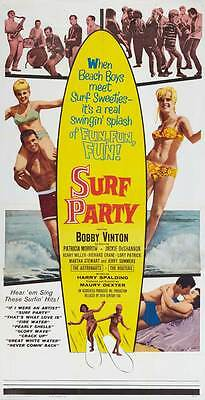 Surf Party Movie (SURF PARTY Movie POSTER 20x40 Bobby Vinton Jackie De Shannon Patricia)