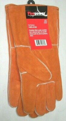 Victor Firepower 1423-4133 Rust Color Premium Thick Leather Welding Gloves Lg