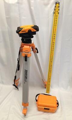 Johnson Automatic Level Kit- 32x Level 40-6962 Tripod 13 Rod Marker