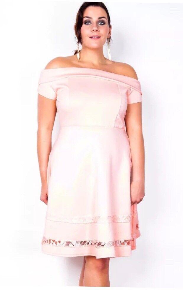 Stunning Pink Curvy Dress Sizes 16 24 Left In Sutton Coldfield