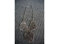 Ladies stylish silver plated necklace