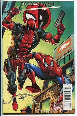 SPIDER-MAN DEADPOOL #1 AMAZING CON COLOR VARIANT LIEFELD MARVEL 2016 NM