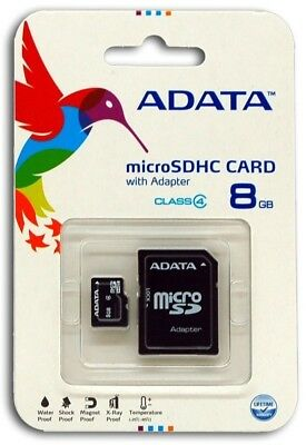 Adata 8GB 8G  Micro SD HC Class 4 TF Flash SDHC Memory Card mobile Adapter - 8 Gb 8g Microsd