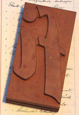 Letterfi Rare Unused Wood Type Letterpress Printing Block Woodtype Font Antique