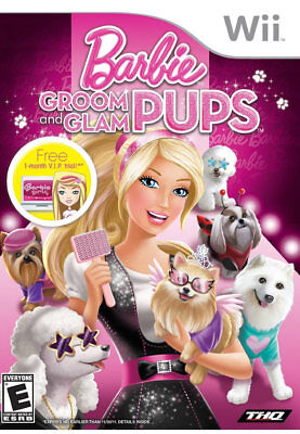 THQ Barbie Groom And Glam Pups Wii Nintendo Wii