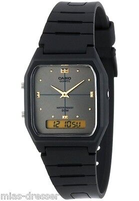 Casio AW48HE-8A Mens Classic Digital Analog Casual Watch 50m Dual Time Alarm NEW