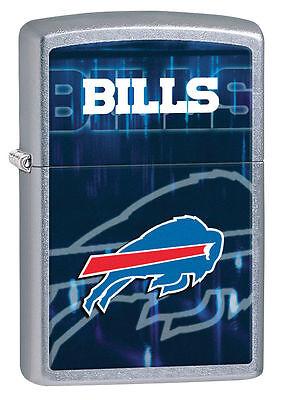 Zippo Street Chrome Lighter With Buffalo Bills Logo,  28586, New In Box