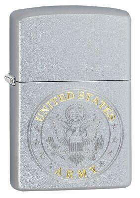 "Zippo 49153,  ""United States Army Seal"" Lighter, Satin Chrome Finish"