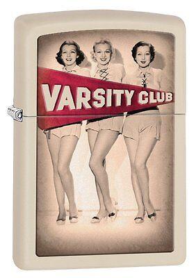 Zippo Lighter ( Varsity Club ) Model 28441 in Cream Matte