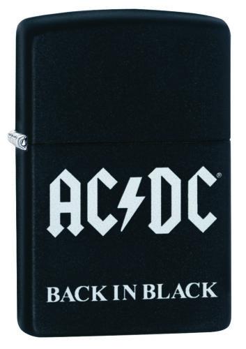 ZIPPO ACDC, Black Matte WindProof Lighter NEW 49015