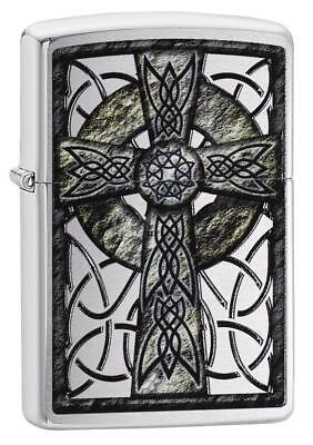 Zippo Windproof Lighter With Celtic Cross, 29622, New In Box