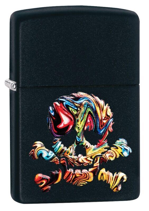 Zippo Textured Multi Color Skull Design Windproof Pocket Lighter, 49187