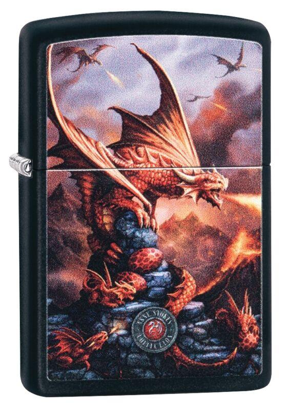 Zippo Anne Stokes Dragon Black Matte Windproof Pocket Lighter, 49097
