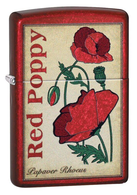 Zippo Poppy Design Windproof Pocket Lighter, 21063-078384