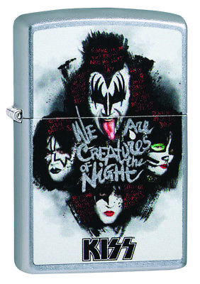 ZIPPO Kiss Street Chrome Outdoor Windproof Lighter new in Box 49018