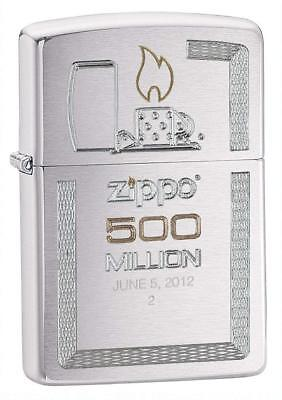 Zippo Brushed Chrome 500 Millionth Lighter, 28412