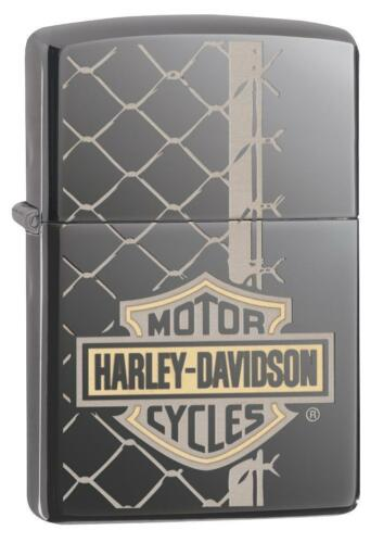 Zippo Harley Davidson Lighter With Logo & Chain Link Fence, 29737, New In Box