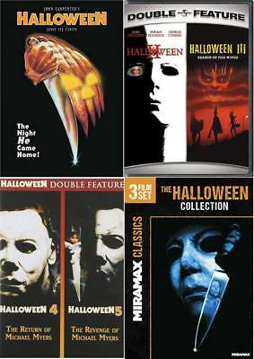 Halloween Movie Film Series Lot 1-8 DVD Collection 1 2 3 4 5 6 7 8 Mike Myers