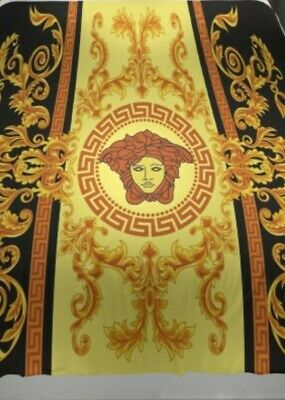 Versace Style Medusa Duvet Queen