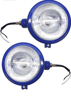 Massey Ferguson Tractor Head Lamps Rhlh Lights Blue Color Fits In 103535135