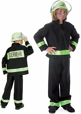 Fries 2080 Kostüm Feuerwehrmann schwarz 2tlg. Gr. (Schwarz Feuerwehrmann Kostüme)