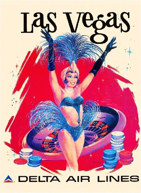 Las Vegas Nevada United States America Vintage Travel Advertisement Poster