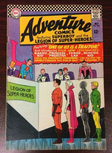 ADVENTURE COMICS #346  (1966) - First Karate Kid, Ferro Lad, Princess Projectra