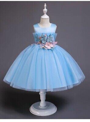 Gorgeous Flower Girl Dresses (Childrens Kids Girls Gorgeous Embroidered Flower Multi-Layer Tulle Dress)