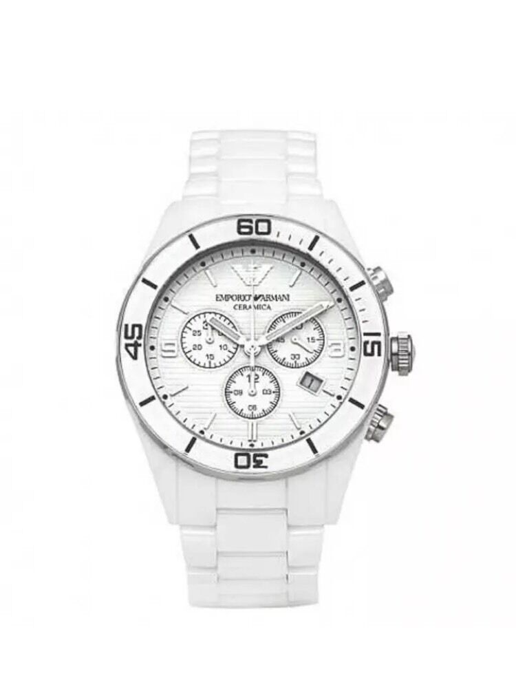 emporio armani ar1424 mens white watch new rrp £399 99 in emporio armani ar1424 mens white watch new rrp £399 99