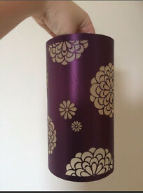 Two Purple Floral Lampshades