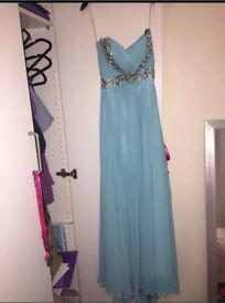 Light blue/ turquoise prom dress size 6