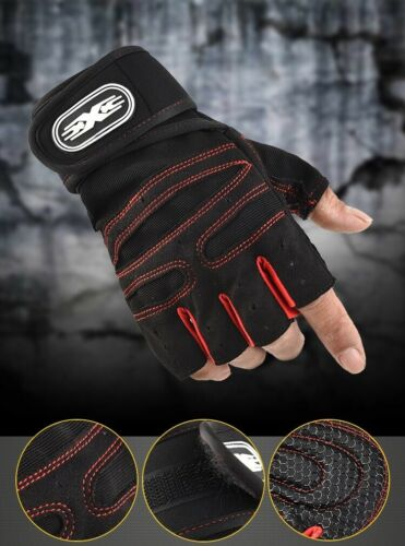 Us Women/men Gym Gloves Hict Wrist Wrap Workout Weight Lifting Fitness Exercise