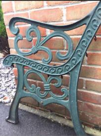 Cast iron garden bench ends