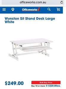 NEW HEIGHT ADJUSTABLE SIT STAND DESK $199 Lambton Newcastle Area Preview