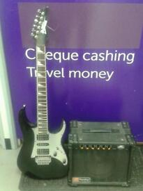 Ibanez Electric Guitar with Panther Amp