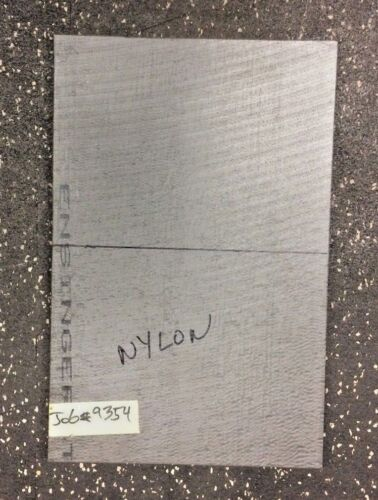 """NYLON plate 0.5"""" thick x 7.875"""" wide x 12.125"""" long"""