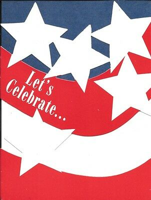 Patriotic American Flag Stars & Stripes Party Invitations By Hallmark - Set of 8