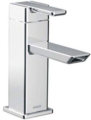 MOEN S6700 90 DEGREE SINGLE HOLE SINGLE HANDLE LOW ARC BATHROOM FAUCET IN CHROME
