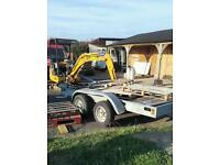 Plant trailer 4 wheel heavy duty.