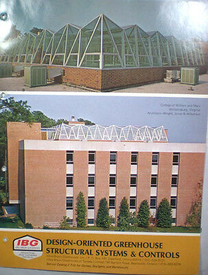 ICKES-BRAUN GREENHOUSE Catalog ASBESTOS Cement TRANSITE Plant Benches Tables '72