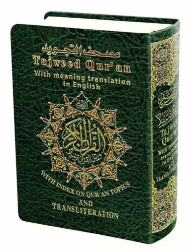 Tajweed Quran with English Translation and Transliteration Pocket size-small