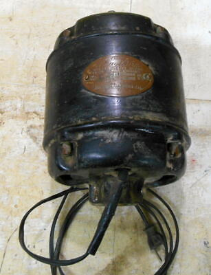 Antique Wards Blue One 14 Hp Electric Motor Runs Great Montgomery Wards