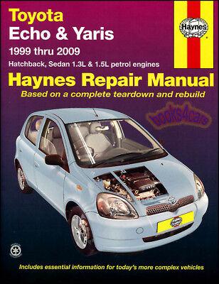 Toyota Echo Yaris Tienda Manual Servicio Reparación Libro Haynes Vitz Chilton