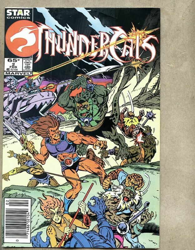 Thundercats #2-1986 fn+ 6.5 Marvel Jim Mooney / Brett Breeding