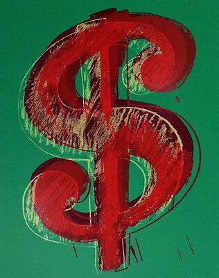 Green Dollar Sign (Dollar Sign Green Sunday B. Morning Limited Edition Silkscreen Andy Warhol)