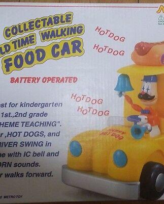 Collectible Old Time Walking Dancing Food Car Hot Dog Vendor Metro Toy