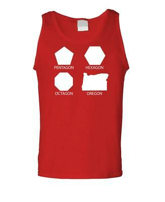 PENTAGON HEXAGON OCTAGON OREGON - Unisex Cotton Tanktop Tank -